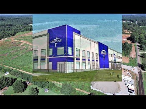 Site Prep Begun For Medline Medical Distribution Facility - Efland, NC