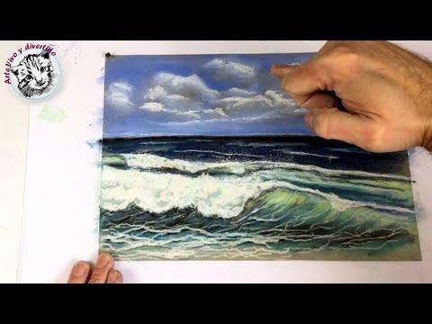 Dibujo Al Pastel 3 Como Dibujar Una Marina Con Pasteles Gises