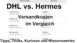 DHL Post und Hermes Preise 2020 was hat sich geändert. Paket Versandkosten Preis Vergleich