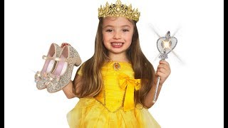 Dominika dress up as Real Princess