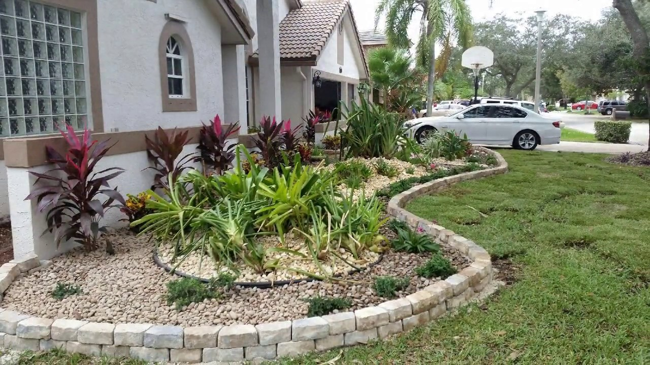 On a Budget Front Yard Landscaping Design Ideas - YouTube on Backyard Lawn Designs  id=29604