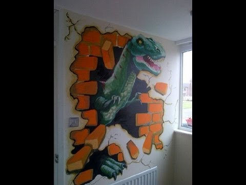 dinosaur mural 2012 by drews wonder walls