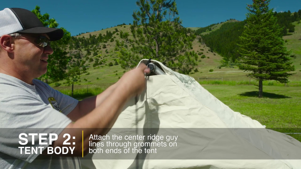 Cabelau0027s Outfitter Tents Setup & Cabelau0027s Outfitter Tents Setup - YouTube