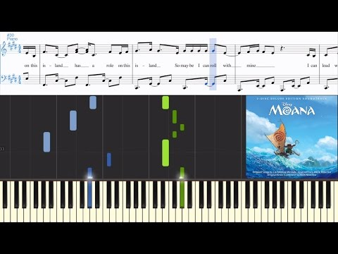 [Moana] Alessia Cara - How Far I'll Go (single) (Synthesia Piano Tutorial w/Lyrics)