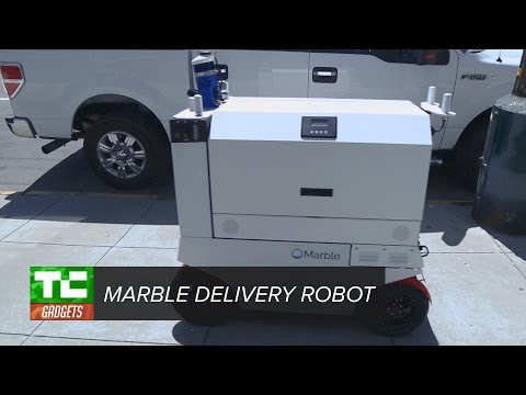 Marble's delivery robot rolls through SF