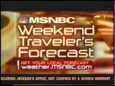 MSNBC Weekend Traveler's Forecast