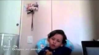 Мальчик объясняет, почему он не хочет есть животных(, 2013-09-18T04:31:49.000Z)