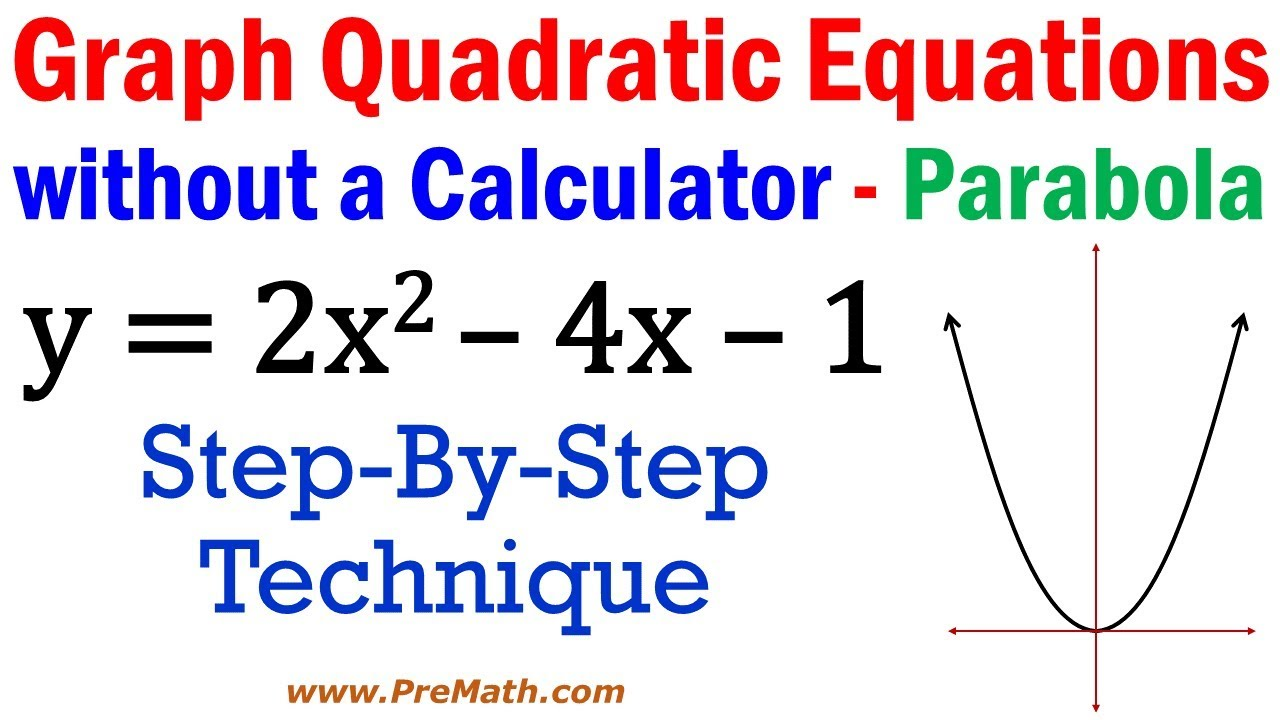 intercept form quadratic calculator  Graph Quadratic Equations without a Calculator - Step-By-Step Approach