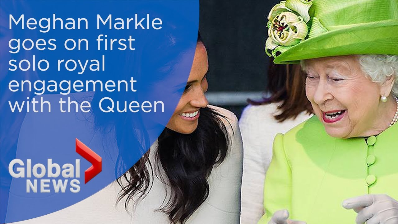 Queen Elizabeth and Meghan Markle share laughs at first solo royal engagement together