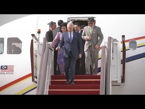 Malaysian Prime Minister Najib Razak Arrives in Beijing for Belt and Road Forum
