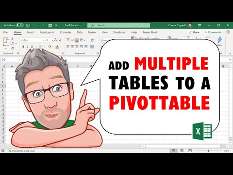 Excel 2013 Combining Multiple Tables in a PivotTable using