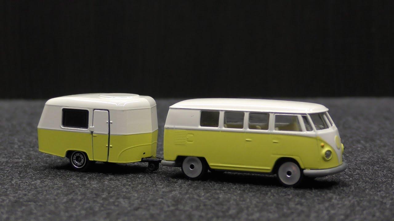 Eriba Puck Caravan 243A Majorette Vintage 2018 VW Volkswagen T1 Yellow Bus