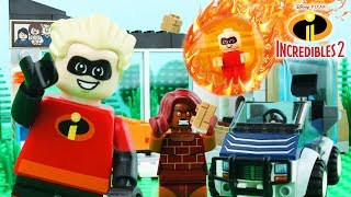 LEGO Incredibles STOP MOTION LEGO Incredibles Escape Brick Building | Incredibles 2 | Billy Bricks