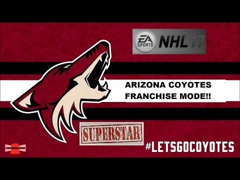 NHL 17 Franchise mode as the Coyotes on Superstar! Game 70, Red Wings VS Coyotes