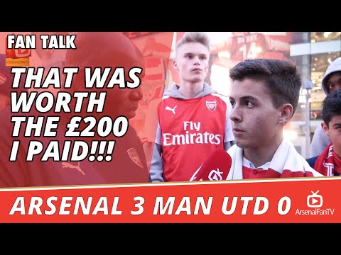That Was Worth The £200 I Paid!!!  | Arsenal 3 Man Utd 0