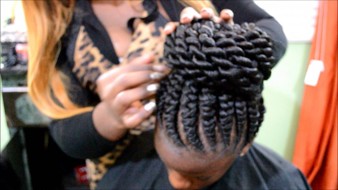 Ghana Braids with Twist bun by Omeece Culmer  YouTube