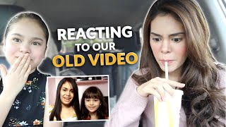 REACTING TO OUR OLD VIDEO + MUKBANG | IVANA ALAWI