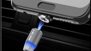 Магнитный USB кабель для быстрой зарядки USLION для рыбалки и повер банков