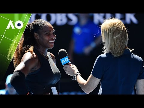 Serena Williams on court interview (3R) | Australian Open 2017