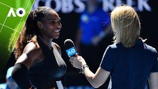 Serena Williams on court interview (3R) | Australian Open 2017 | Australian Open TV