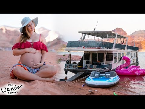 MATERNITY PHOTOS At Lake Powell!! Living On A Houseboat!