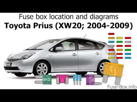 Toyota Prius Xw20 2004 2009 Fuse Box Location And Diagrams Youtube