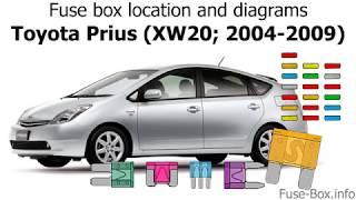 toyota prius (xw20; 2004-2009) fuse box location and diagrams - youtube  youtube