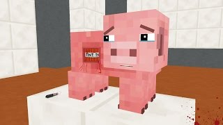 FNAF Monster School: Pig Operation - Minecraft Animation