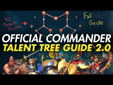 Official Commander Talent Tree Guide 2.0 | Rise of Kingdoms | Beginner's Guide