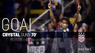 WNT vs. Thailand: Crystal Dunn Goal - Sept. 15, 2016