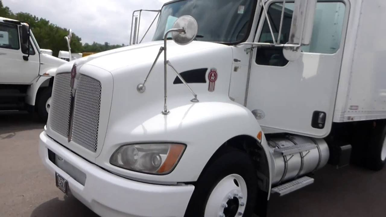 2010 kenworth t370 18' box truck, diesel-automatic, walk ramp, stock #10005  - youtube  youtube
