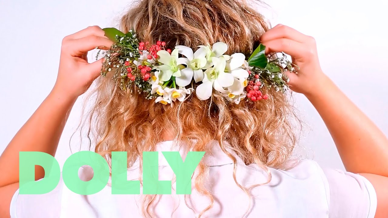How to dollys diy formal prom floral crown how to tuesdays youtube how to dollys diy formal prom floral crown how to tuesdays izmirmasajfo