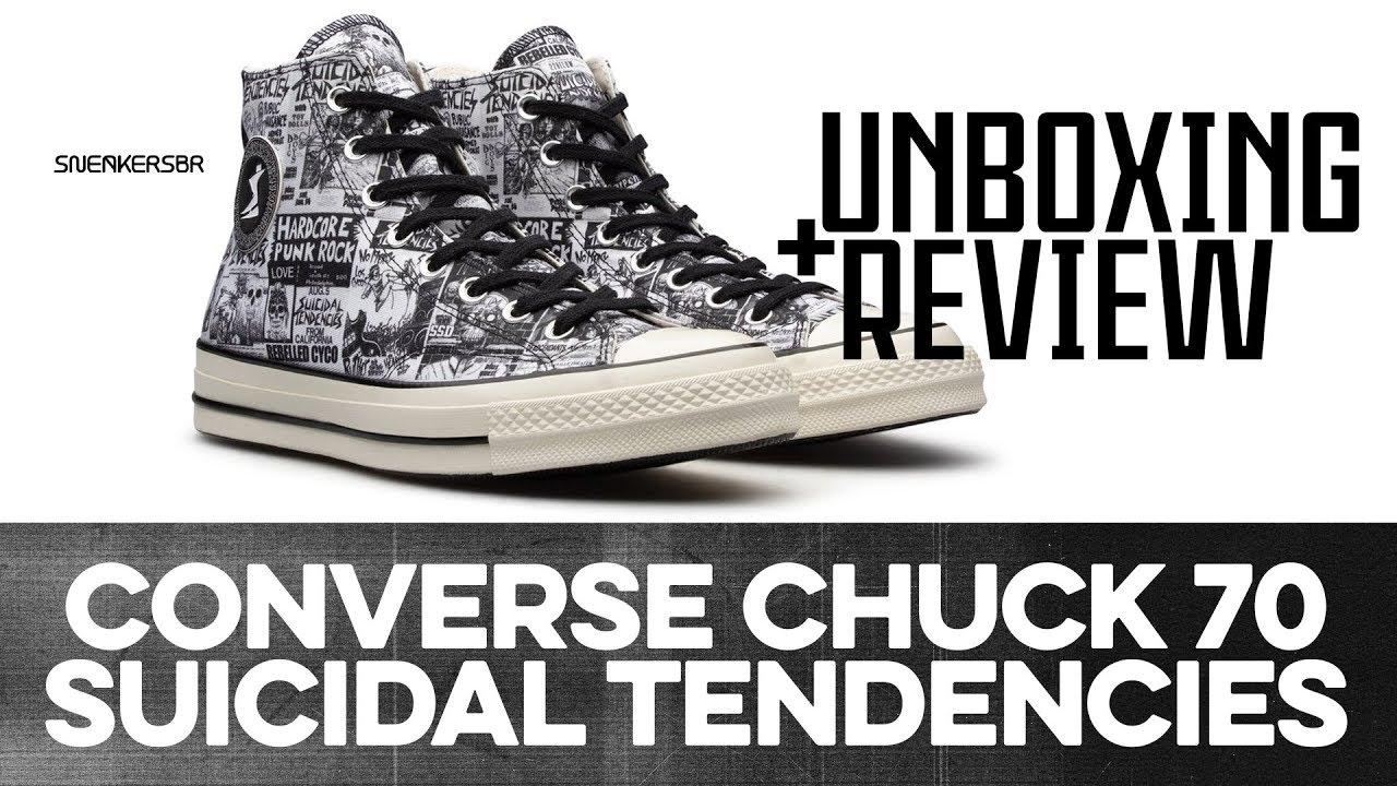 f8eb8a01f956 UNBOXING+REVIEW - Converse Chuck 70 Suicidal Tendencies. Sneakers BR