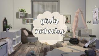 GIRLY NURSERY | The Sims 4 Speed Build | BASE GAME + CC / Видео