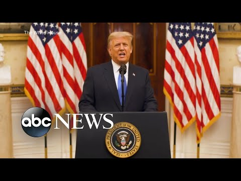 Trump releases recorded video message on …