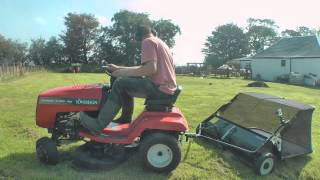 Trying Out My New  Lawn Sweeper