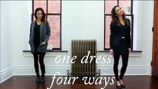How to style a sweater dress / ttsandra thumbnail