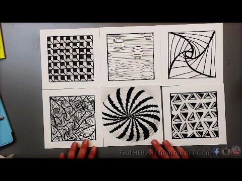 Op Art Line Design Lesson : Optical illusion drawing techniques patterns youtube