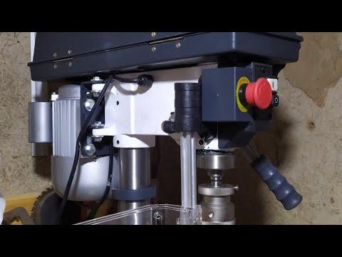 Сверлильный станок Optimum B17 pro.Обзор,тэст,замер биения шпинделя.