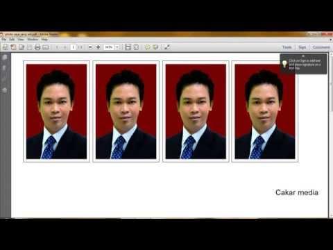 cara membuat ukuran Pas Photo 4x6 dan 3x4