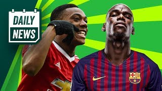 TRANSFER NEWS: Paul Pogba To Barcelona + Martial On The Move ► Daily Transfer News