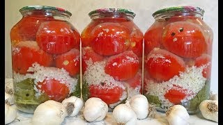 """ПОМИДОРЫ В СНЕГУ"" Закуска на Праздник / Помидоры На Зиму / Canned Tomatoes For The Winter"