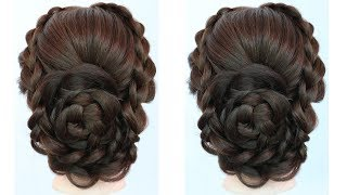 new bridal hairstyle for long hair | updo hairstyle | beautiful hairstyle | wedding guest hairstyle