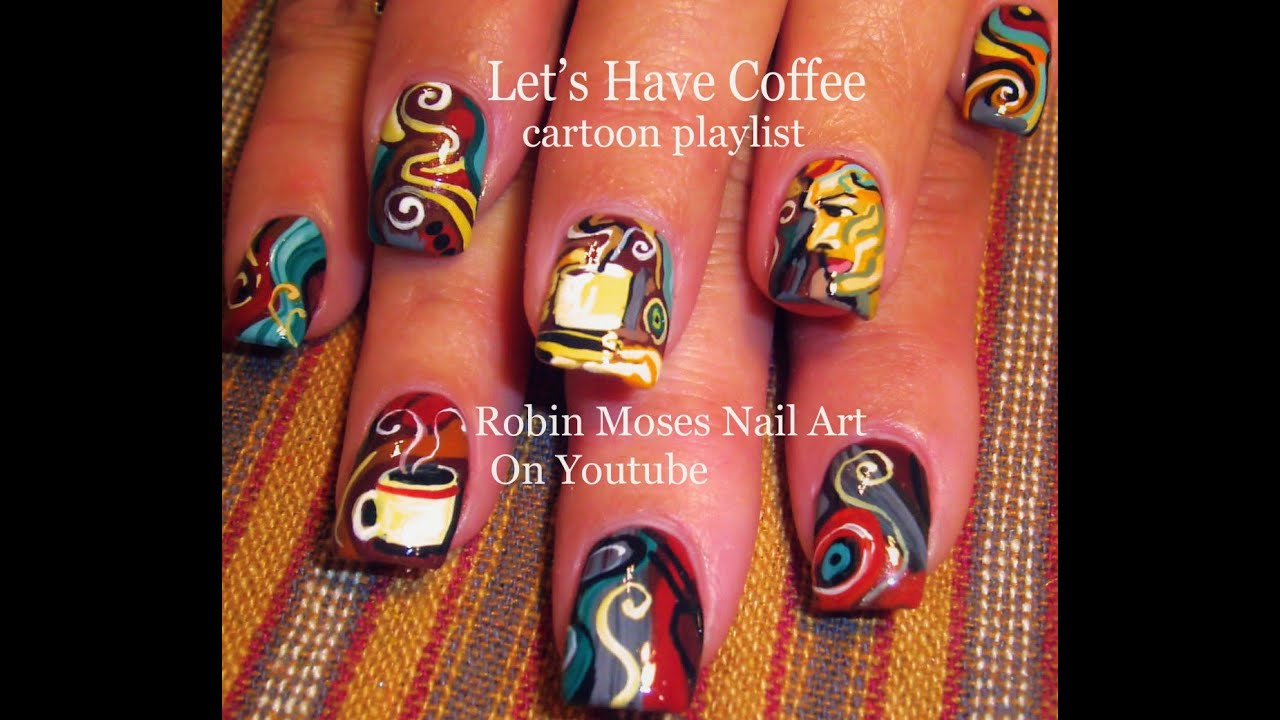 Prettyfulz Fall Nail Art Design 2011: Coffee Cup Nail Art Design Tutorial