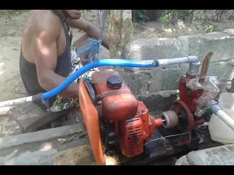 Mesin Babat Rumput Di Jadi Kan Mesin Dap Air Youtube