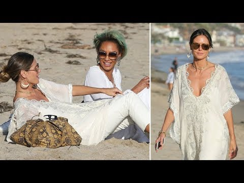 Mel B Hits The Beach With Heidi Klum In Malibu Asked About Settling Stephen