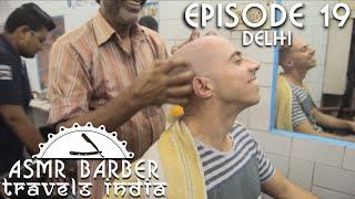 Ticklish head Massage in Indian Barber shop - ASMR Intentional
