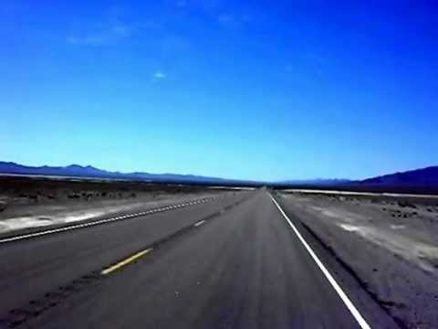 A lonely stretch on the Extraterrestrial Highway, Route 375, Nevada