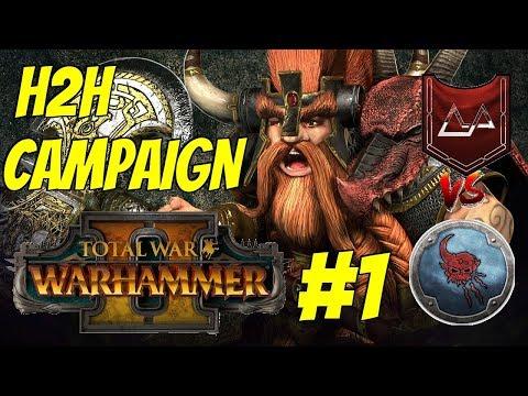 Karak Kadrin vs Wintertooth | Ungrim Ironfist Head to Head Campaign #1 - Total War: Warhammer 2