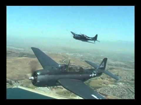 Planes Of Fame Air Museum Media Day 2011. F4U Corsair, F6F-3 Hellcat, SBD-2 Dauntless